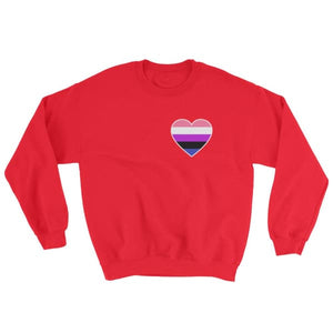Sweatshirt - Genderfluid Heart Red / S