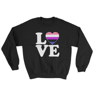 Sweatshirt - Genderfluid Love & Heart Black / S
