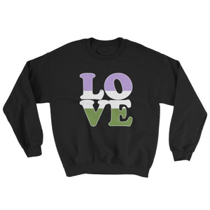 Sweatshirt - Genderqueer Love Black / S
