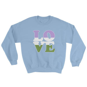 Sweatshirt - Genderqueer Love Light Blue / S