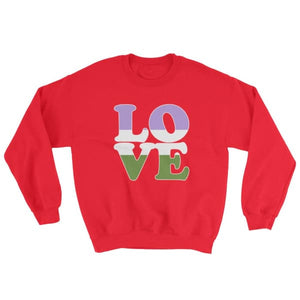 Sweatshirt - Genderqueer Love Red / S