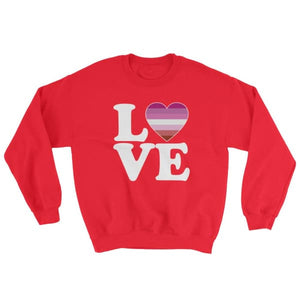 Sweatshirt - Lesbian Love & Heart Red / S