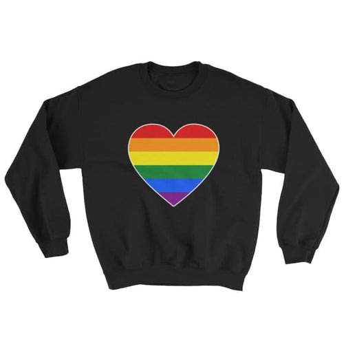 Sweatshirt - Lgbt Big Heart Black / S