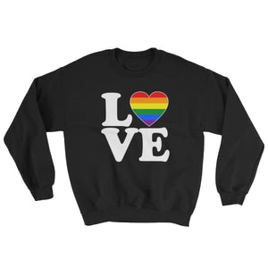 Sweatshirt - Lgbt Love & Heart Black / S