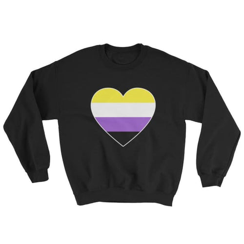 Sweatshirt - Non Binary Big Heart Black / S