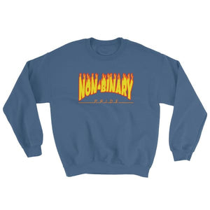 Sweatshirt - Non-Binary Flames Indigo Blue / S