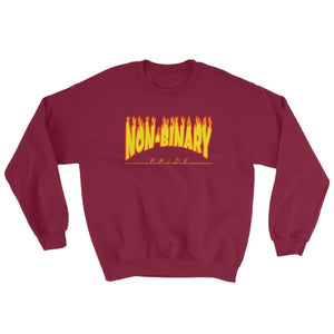 Sweatshirt - Non-Binary Flames Maroon / S