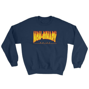Sweatshirt - Non-Binary Flames Navy / S