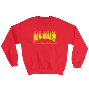 Sweatshirt - Non-Binary Flames Red / S
