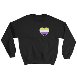 Sweatshirt - Non Binary Heart Black / S