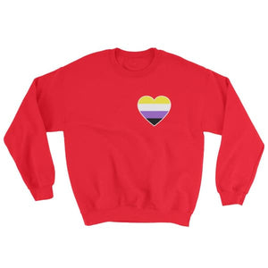Sweatshirt - Non Binary Heart Red / S