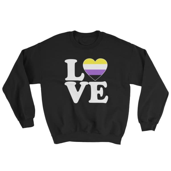 Sweatshirt - Non Binary Love & Heart Black / S