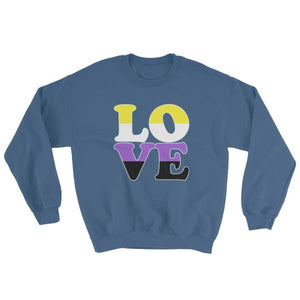 Sweatshirt - Non Binary Love Indigo Blue / S