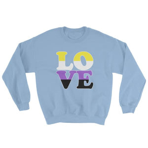 Sweatshirt - Non Binary Love Light Blue / S