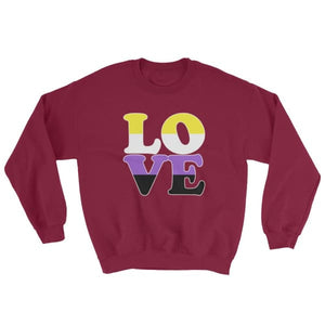 Sweatshirt - Non Binary Love Maroon / S