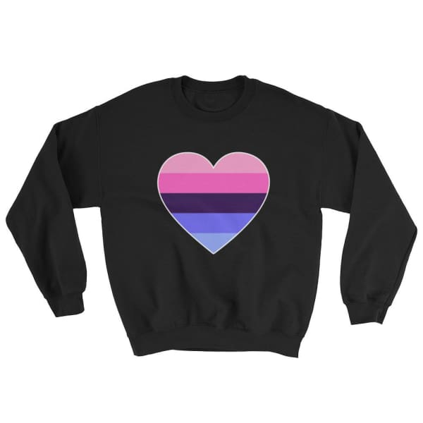 Sweatshirt - Omnisexual Big Heart Black / S