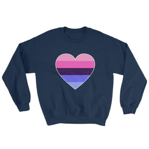 Sweatshirt - Omnisexual Big Heart Navy / S