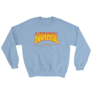 Sweatshirt - Omnisexual Flames Light Blue / S