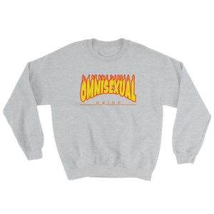 Sweatshirt - Omnisexual Flames Sport Grey / S