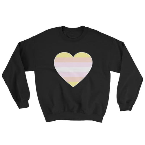 Sweatshirt - Pangender Big Heart Black / S