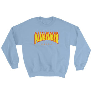 Sweatshirt - Pangender Flames Light Blue / S