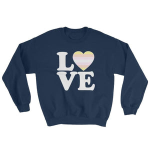 Sweatshirt - Pangender Love & Heart Navy / S