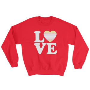 Sweatshirt - Pangender Love & Heart Red / S