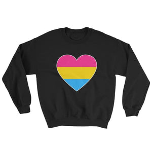 Sweatshirt - Pansexual Big Heart Black / S