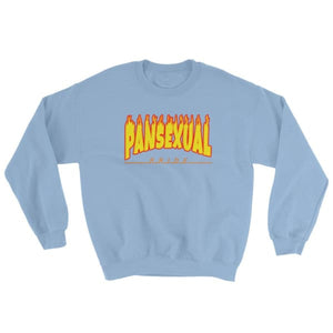 Sweatshirt - Pansexual Flames Light Blue / S