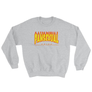 Sweatshirt - Pansexual Flames Sport Grey / S