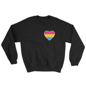 Sweatshirt - Pansexual Heart Black / S