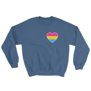 Sweatshirt - Pansexual Heart Indigo Blue / S