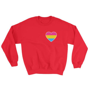 Sweatshirt - Pansexual Heart Red / S
