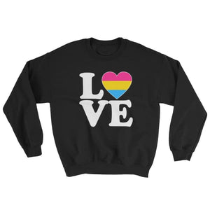 Sweatshirt - Pansexual Love & Heart Black / S