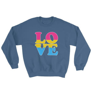Sweatshirt - Pansexual Love Indigo Blue / S