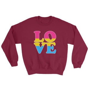 Sweatshirt - Pansexual Love Maroon / S