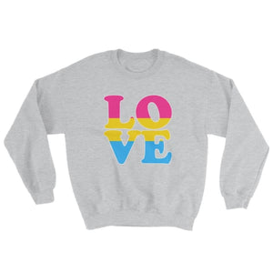 Sweatshirt - Pansexual Love Sport Grey / S