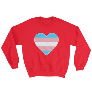 Sweatshirt - Transgender Big Heart Red / S