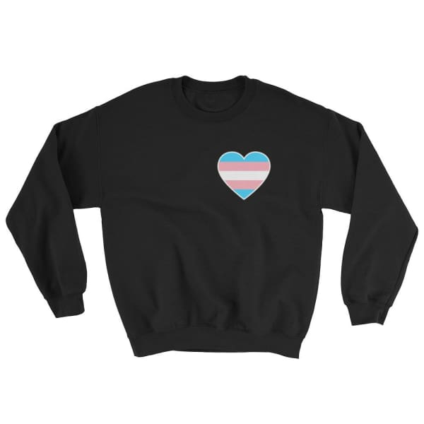 Sweatshirt - Transgender Heart Black / S