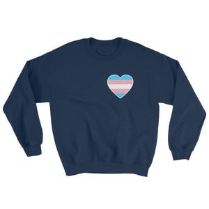 Sweatshirt - Transgender Heart Navy / S