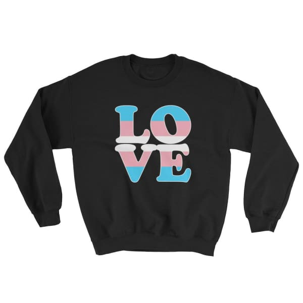 Sweatshirt - Transgender Love Black / S