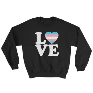 Sweatshirt - Transgender Love & Heart Black / S