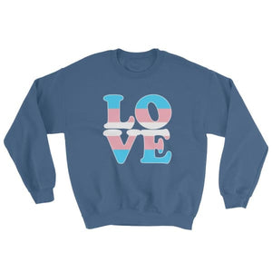Sweatshirt - Transgender Love Indigo Blue / S