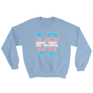Sweatshirt - Transgender Love Light Blue / S