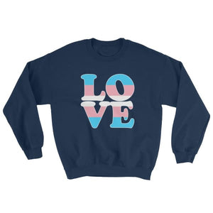 Sweatshirt - Transgender Love Navy / S