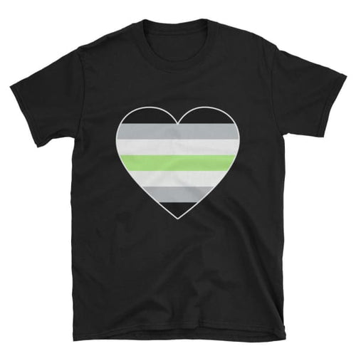 T-Shirt - Agender Big Heart Black / S