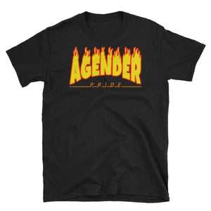 T-Shirt - Agender Flames Black / S