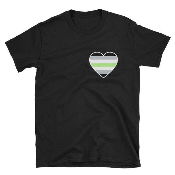 T-Shirt - Agender Heart Black / S
