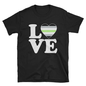 T-Shirt - Agender Love & Heart Black / S