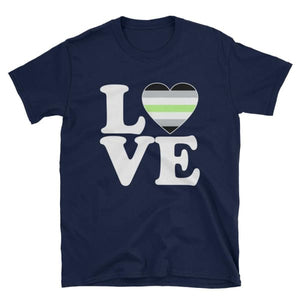 T-Shirt - Agender Love & Heart Navy / S